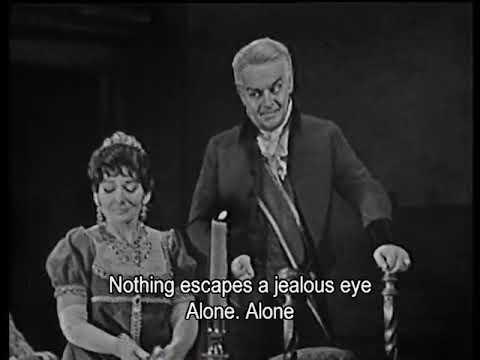 Maria Callas and Tito Gobbi at Covent Garden, 9.02.1964-Tosca, prod Franco Zeffirelli, atto II.