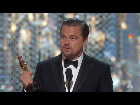 Leonardo DiCaprio winning Best Actor   88th Oscars (2016)