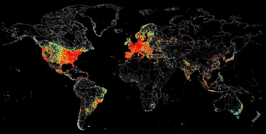 числа пользователей интернета