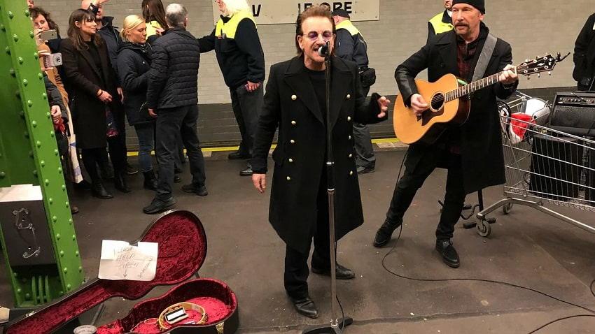 U2 шокировала пассажиров нью-йорского метро