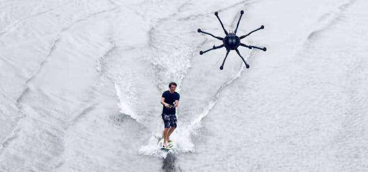 Дронсёрфинг: как в вейкбординге стали использовать дрон вместо катера - спорт, лайфхак, гаджеты
